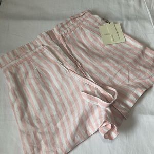 High-waisted bag shorts